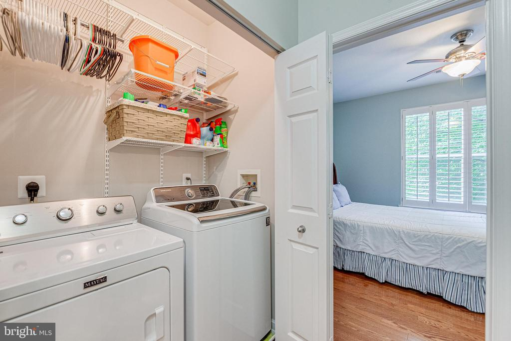 Side by side washer/ dryer in hall by second BR - 9480 VIRGINIA CENTER BLVD #117, VIENNA