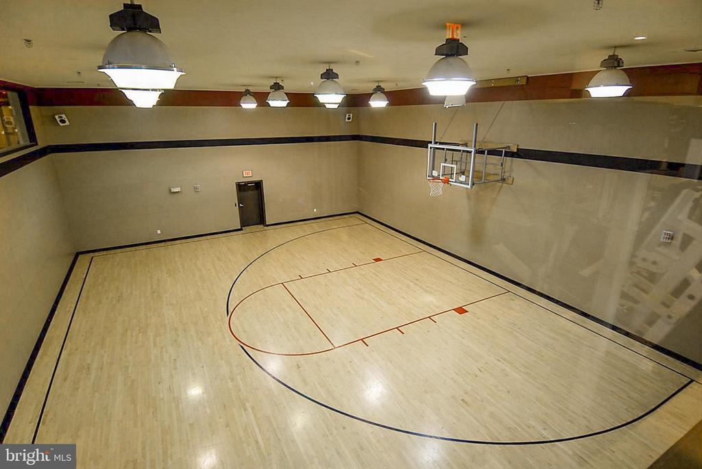 Half basketball court in main common area. - 9480 VIRGINIA CENTER BLVD #117, VIENNA