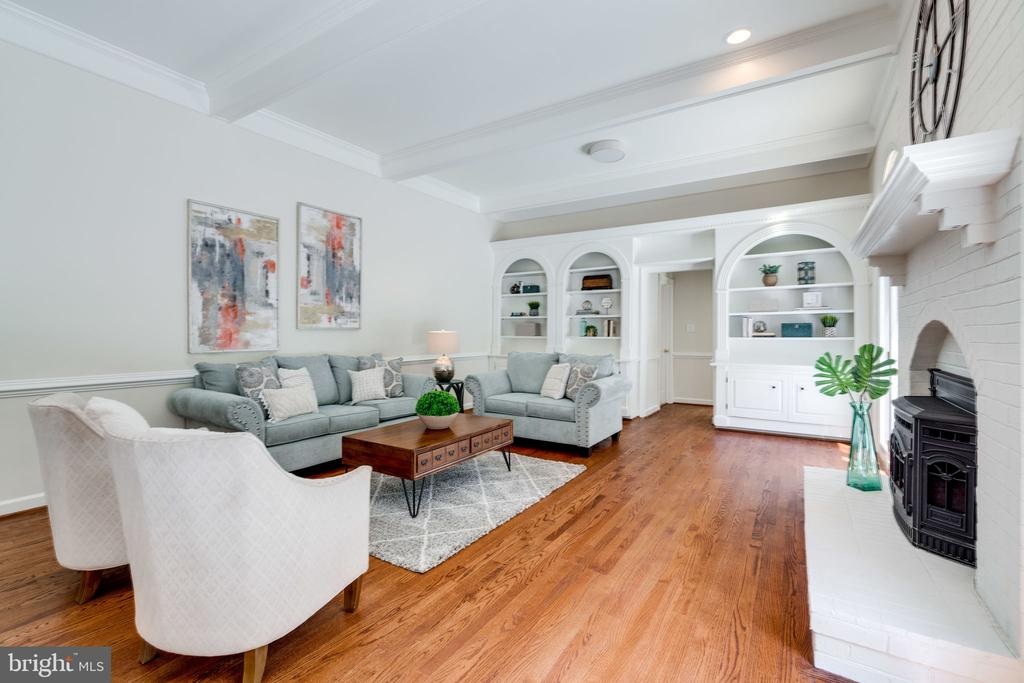 Lovely arched built-ins to display your treasures - 11112 HAMPTON RD, FAIRFAX STATION