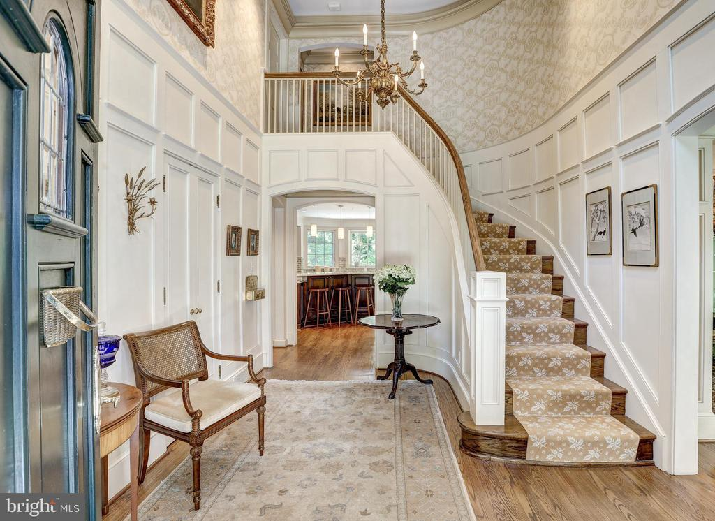 Two Story Foyer with Custom Millwork - 10 STANMORE CT, POTOMAC
