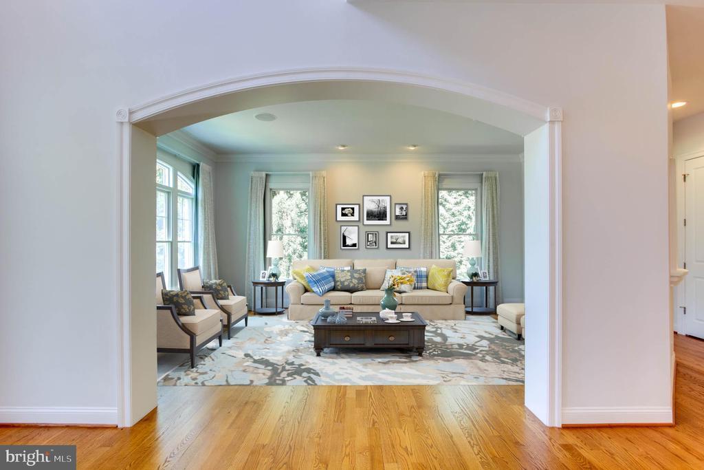 Virtually Staged  Living Room - 9600 THISTLE RIDGE LN, VIENNA