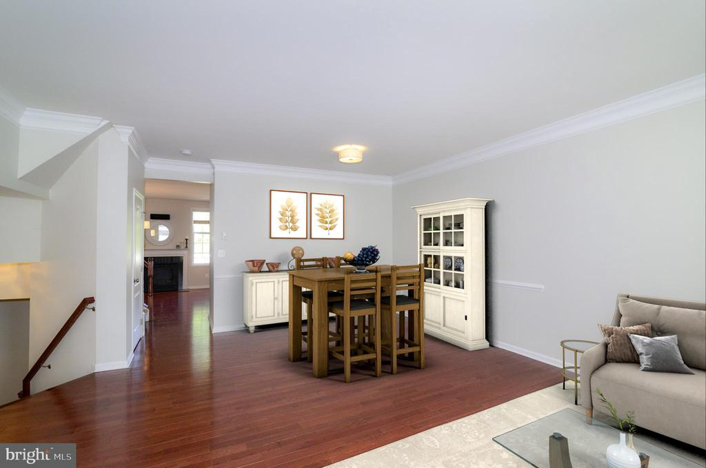 Open concept family and dining room - 43275 MITCHAM SQ, ASHBURN