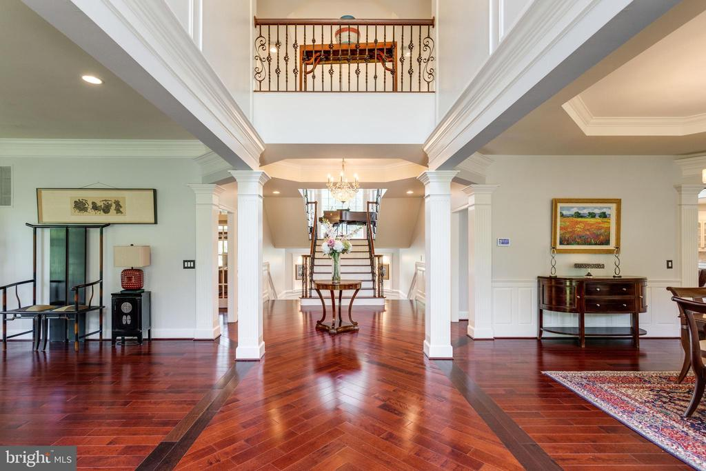 Grand  Columned Foyer Greets Guests. - 2508 COULTER LN, OAKTON