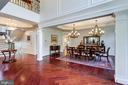 Columned Dining Room. - 2508 COULTER LN, OAKTON
