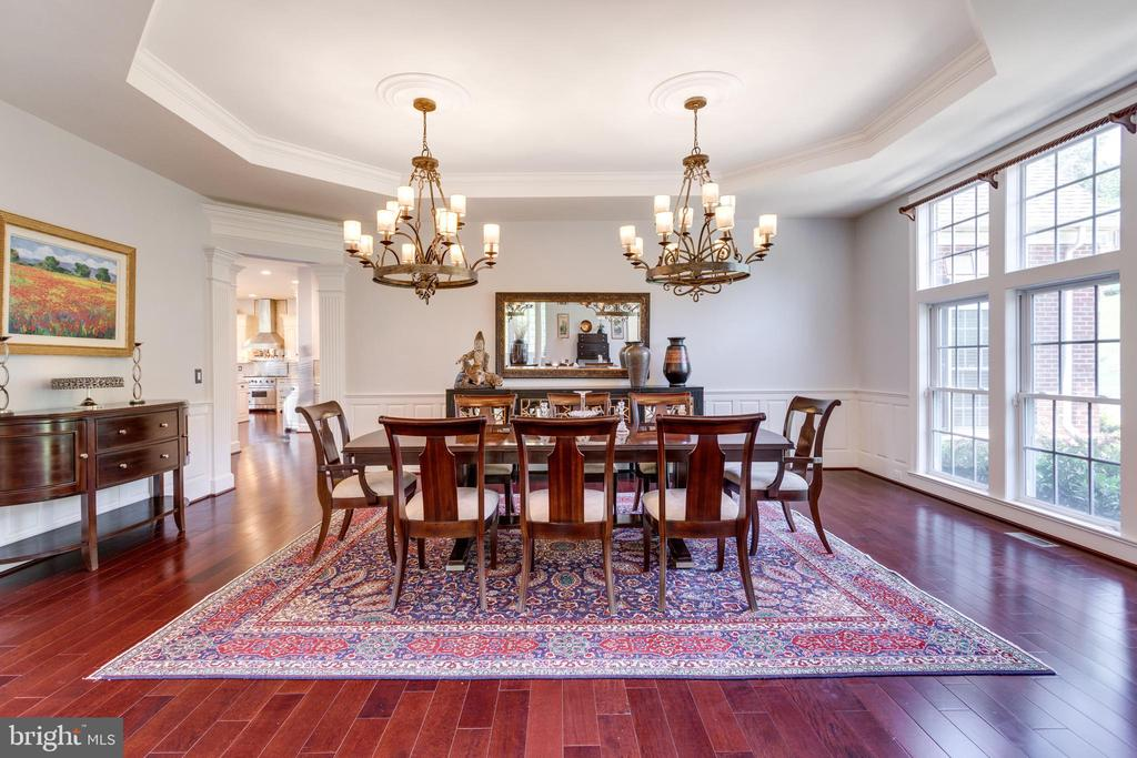 Dining Room with Gorgeous Chandeliers. - 2508 COULTER LN, OAKTON