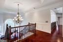 Upper Level Landing with Cherry Hardwoods. - 2508 COULTER LN, OAKTON