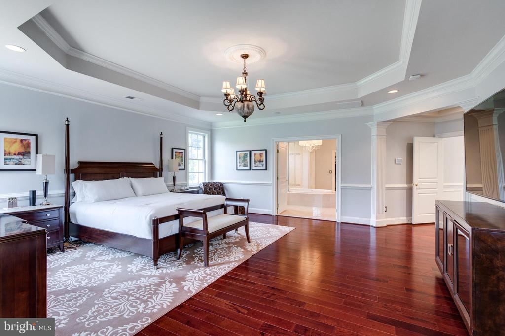 Master Suite with Tray Ceiling. - 2508 COULTER LN, OAKTON