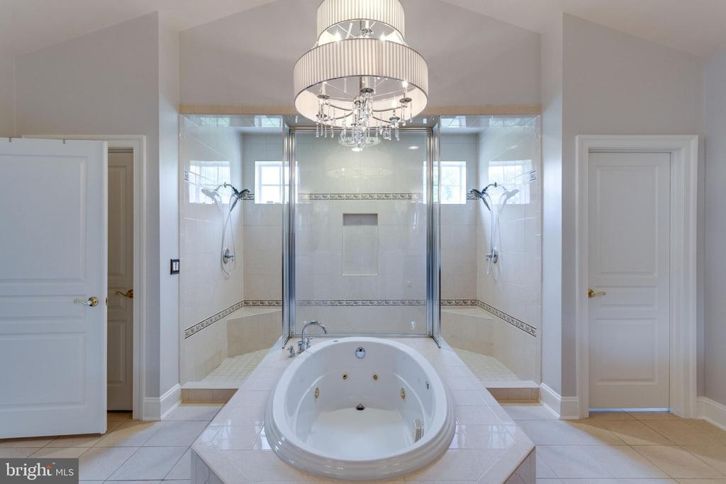 Spa Tub with Generous Dual Shower. - 2508 COULTER LN, OAKTON