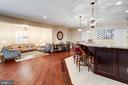 View of Sitting Area & Entertaining Kitchen. - 2508 COULTER LN, OAKTON