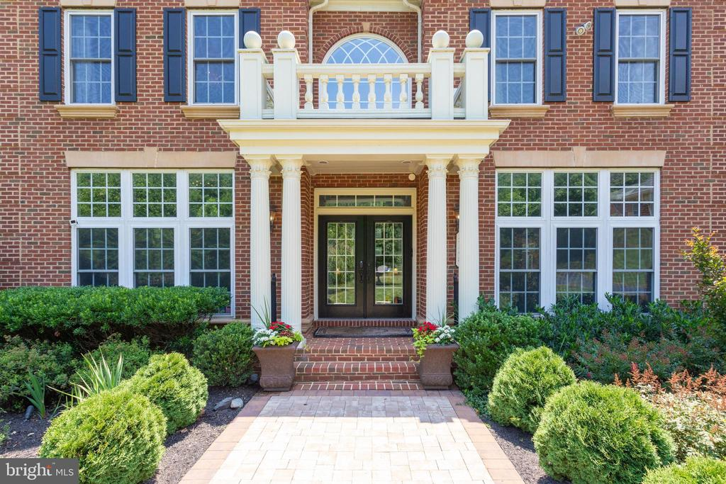 Stately Architectural Details Adorn Exterior. - 2508 COULTER LN, OAKTON