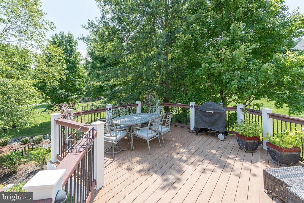 Deck off Great Room & Breakfast Room. - 2508 COULTER LN, OAKTON