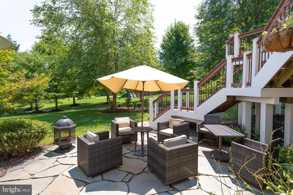 Walk -out to Patio from Lower Level Rec Room. - 2508 COULTER LN, OAKTON