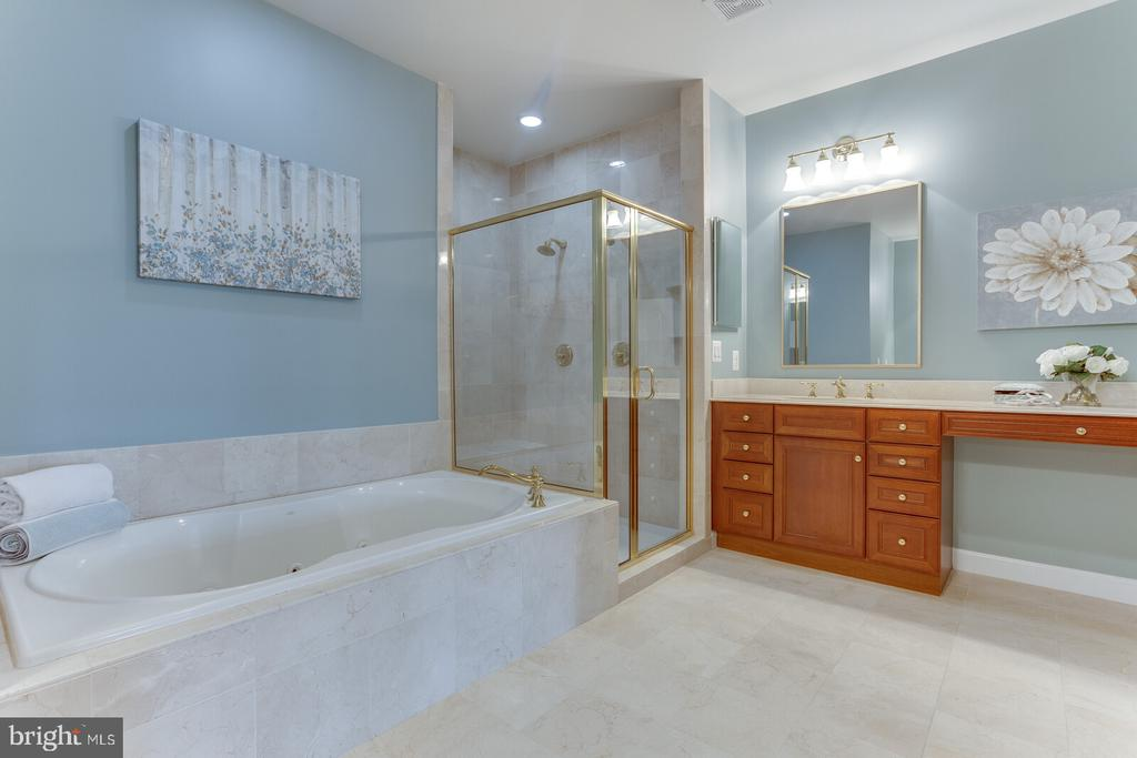Separate shower and vanity space - 18382 FAIRWAY OAKS SQ, LEESBURG