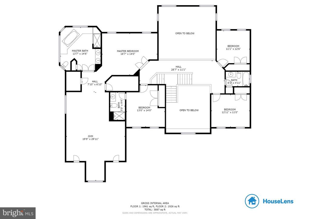 Floor Plan Upper Level - 37081 ELAINE PL, PURCELLVILLE