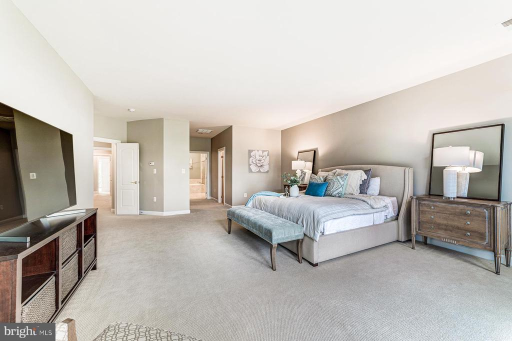 Master suite features dual walk in closets - 18382 FAIRWAY OAKS SQ, LEESBURG
