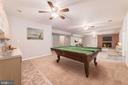 Rec room with wet bar - 7395 BEECHWOOD DR, SPRINGFIELD