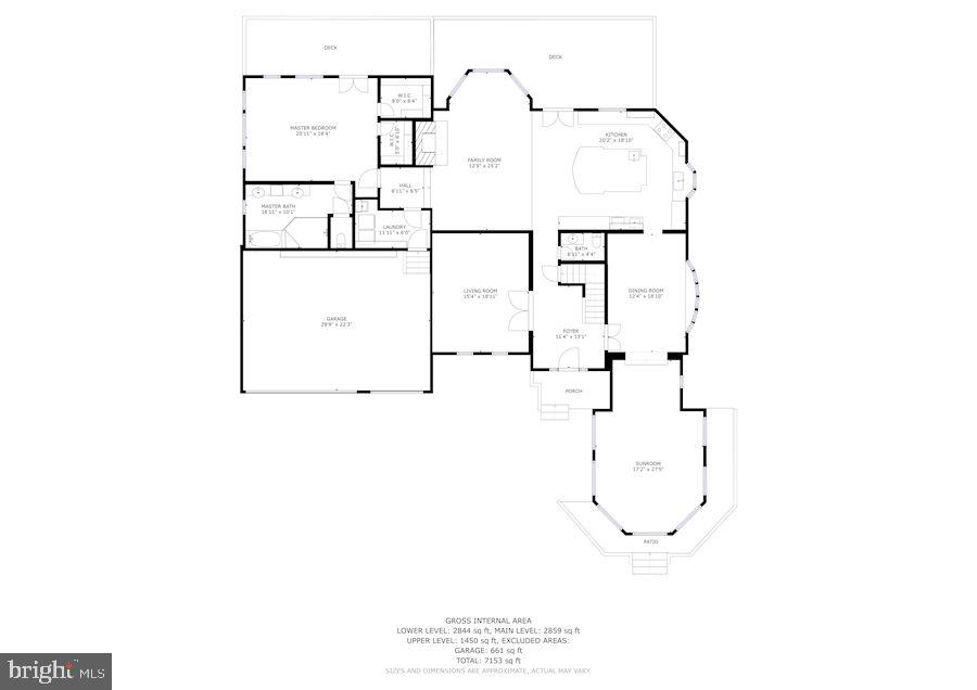 Main Level Floor Plan - 7395 BEECHWOOD DR, SPRINGFIELD