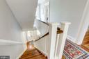 Stairs are original heart pine floors. - 652 SPRING ST, HERNDON