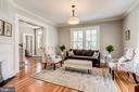 Living Room- updated light fixtures & fresh paint! - 652 SPRING ST, HERNDON