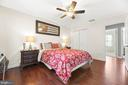 Master Bedroom w/hardwood floors and two closets - 12 DUDLEY CT, STERLING
