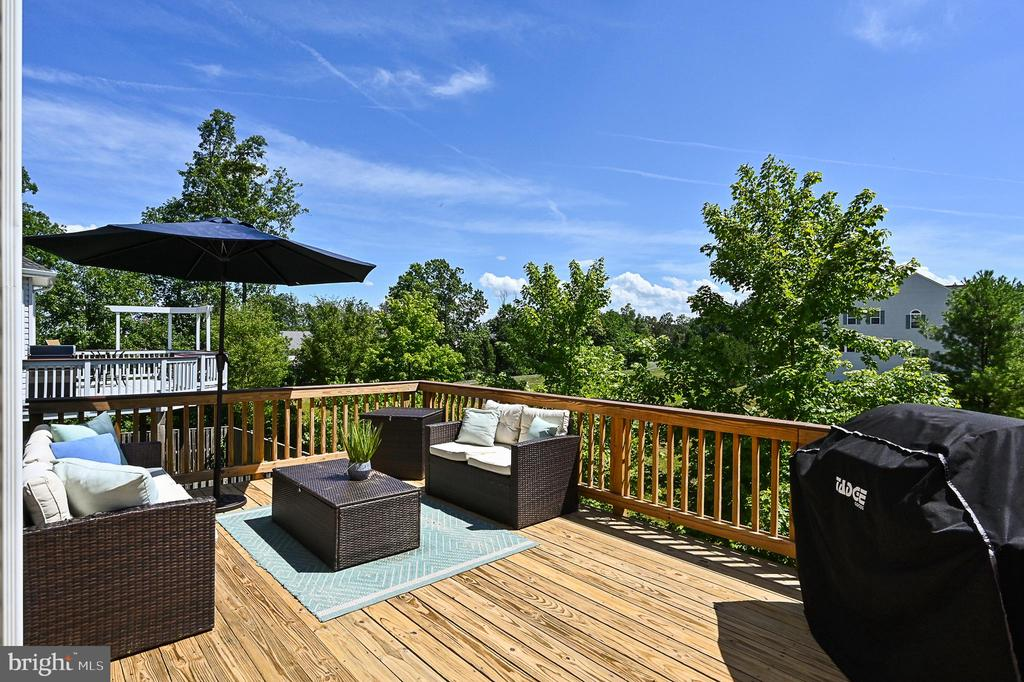 Large entertaining deck backing to common space. - 42297 DEMARCO TER, CHANTILLY