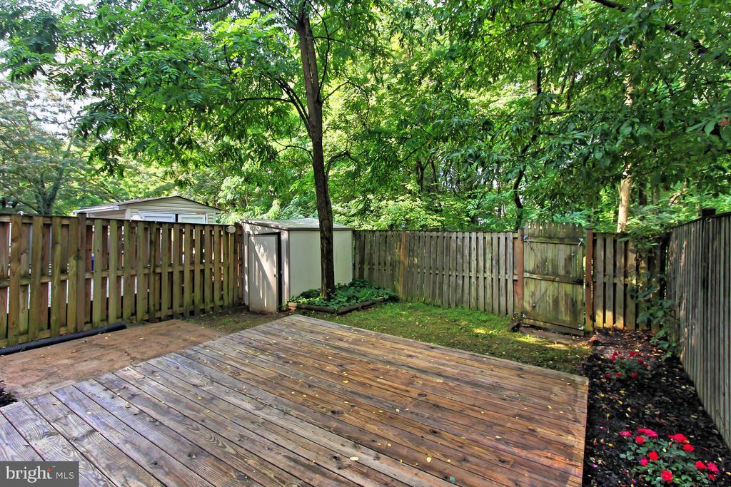 Grade Level Deck with Shed & Backs to Dense Woods - 4923 TIBBITT LN, BURKE