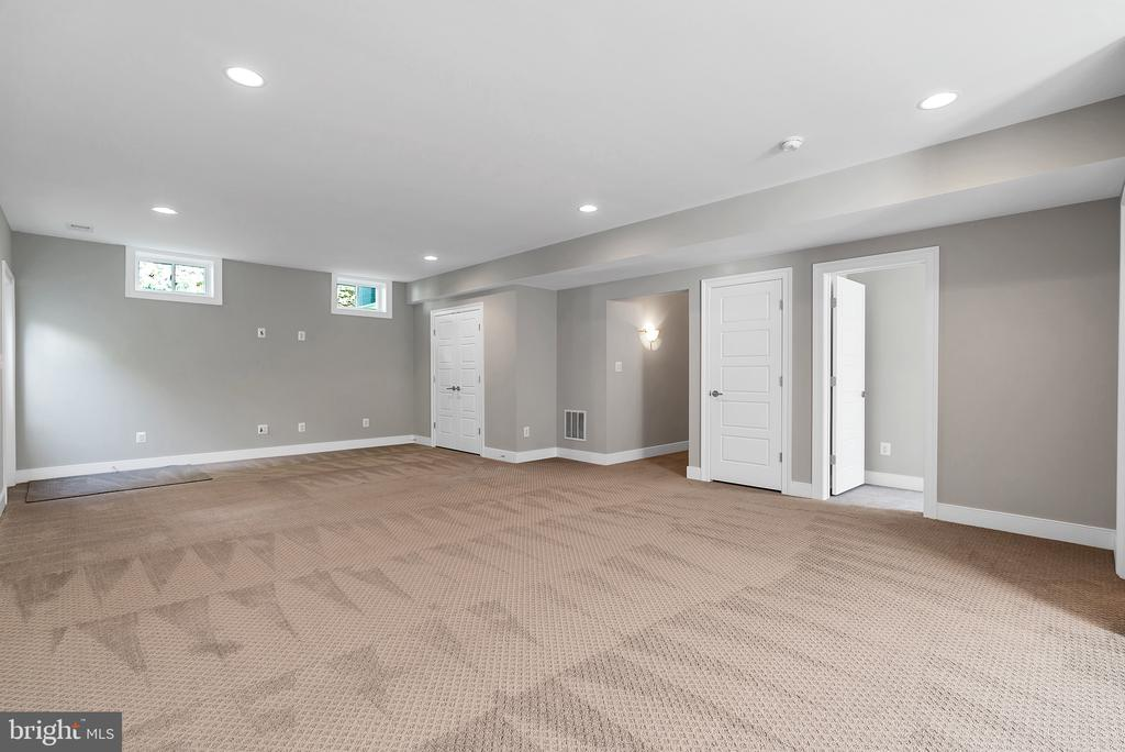 Lower Level Rec Room (Similar sold Home) - 1849 WARE RD, FALLS CHURCH