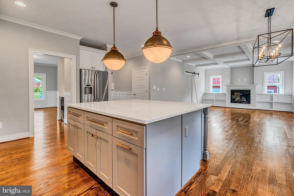 Kitchen Island into Family Room(Similar sold Home) - 1849 WARE RD, FALLS CHURCH