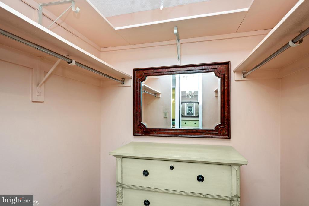 One of two closets in main bedroom - 5902 MOUNT EAGLE DR #609, ALEXANDRIA