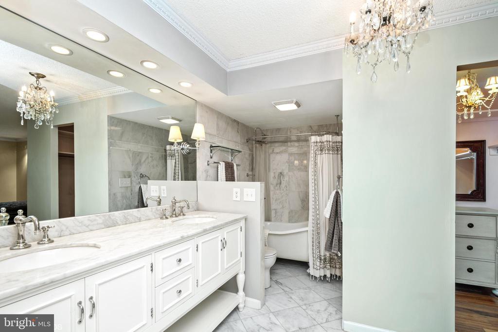 Magnificent expanded main bath - 5902 MOUNT EAGLE DR #609, ALEXANDRIA