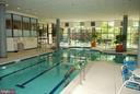 Indoor pool w/ treed view and spa area - 5902 MOUNT EAGLE DR #609, ALEXANDRIA