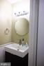 Guest half bath on the main level - 1004 WARWICK CT, STERLING