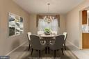 Dining Room off of Kitchen - 8843 APPLECROSS LN, SPRINGFIELD