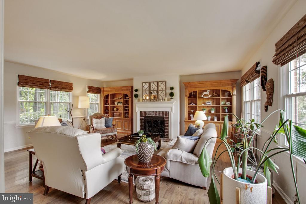 Family Room with Wood Burning Fireplace - 20400 ALTAVISTA WAY, ASHBURN