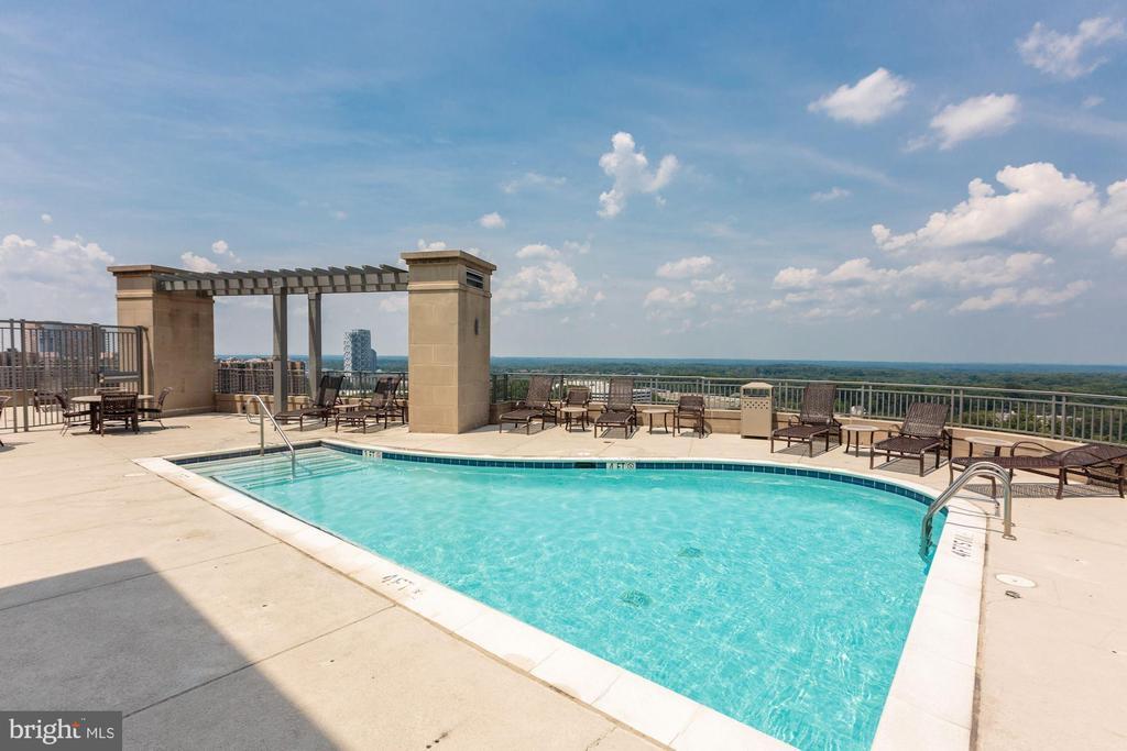 Rooftop Pool - 8220 CRESTWOOD HEIGHTS DR #1814, MCLEAN