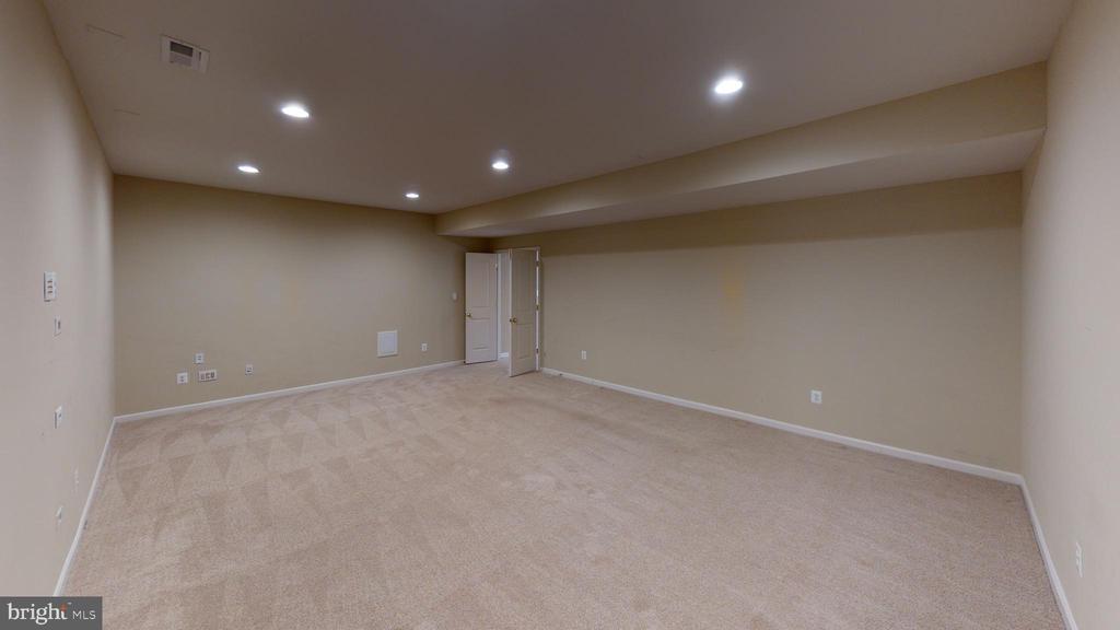 Basement media room - 1410 MACFREE CT, ODENTON