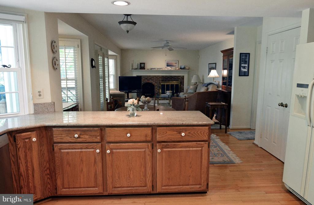 Kitchen Flows into the Family Room - 14504 S HILLS CT, CENTREVILLE