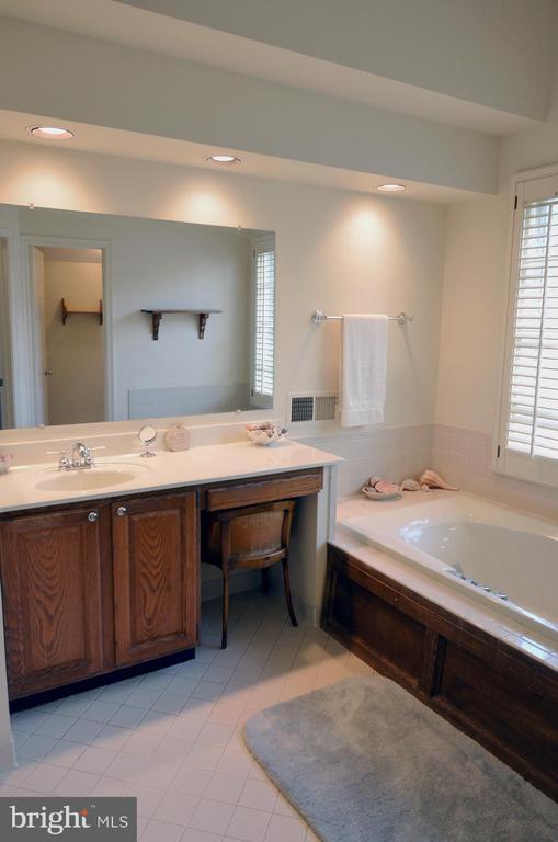 En Suite Owner's BA w/Vanity & Make-up Couter - 14504 S HILLS CT, CENTREVILLE