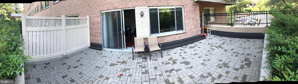 Private patio. - 1900 LYTTONSVILLE RD #306, SILVER SPRING