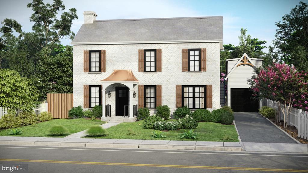 Front View Featuring Slate Roof & Lime Wash Brick - 3729 N PERSHING DR, ARLINGTON