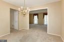 Dining Room - 8843 APPLECROSS LN, SPRINGFIELD