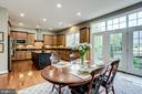 French doors take you out to the patio - 904 LOCUST ST, HERNDON