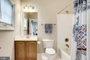 Each bathroom has it's own linen closet - 904 LOCUST ST, HERNDON