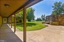 Courtyard from basement to fitness studio - 69 TWIN POST LN, HUNTLY