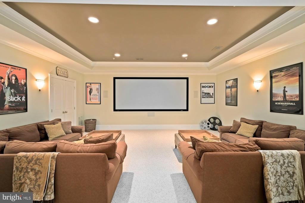 lower level movie room - 11215 KINSALE CT, ELLICOTT CITY