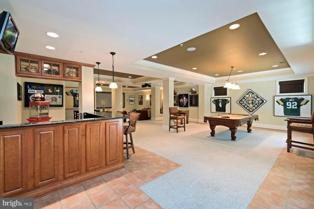 full built in bar - 11215 KINSALE CT, ELLICOTT CITY