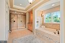 master en suite spa bathroom - 11215 KINSALE CT, ELLICOTT CITY