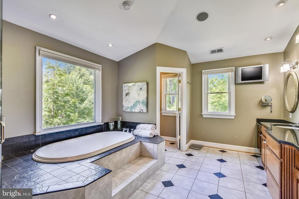 Luxurious master whirlpool spa bath - 840 ELDEN ST, HERNDON