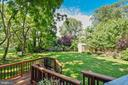 View of pretty flat yard from IPE deck - 840 ELDEN ST, HERNDON