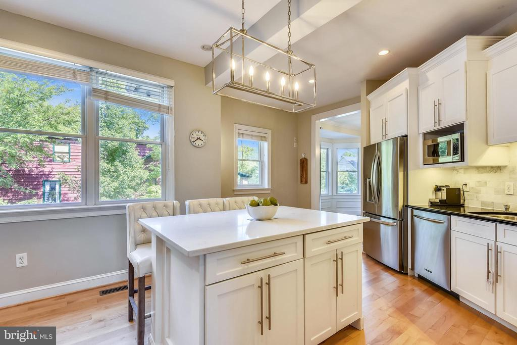 Middle island with beautiful  quartz counter - 840 ELDEN ST, HERNDON